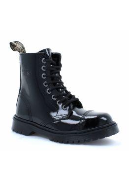 Середні черевики Steel чорні на 8 дірок 113/AL-CZ/Z/B-LAC