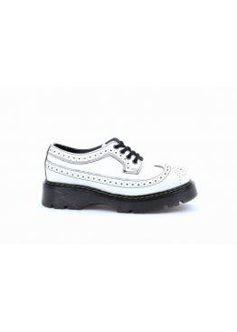 Низькі жіночі черевики Steel білі на 4 дірки
