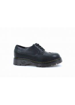 Низькі жіночі черевики Steel чорні на 4 дірки 112/CL/B-B