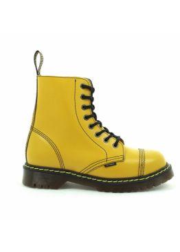 Жовті середні черевики Steel на 8 дірок