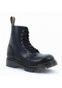Середні черевики Steel чорні на 8 дірок 113-114/CL/GL/B