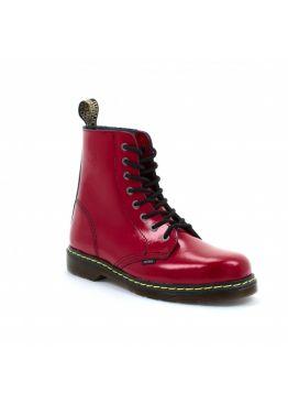 Середні черевики Steel червоні на 8 дірок 114/KEN/D-20