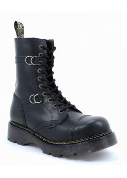 Високі черевики Steel чорні на 10 дірок 165/CL/B