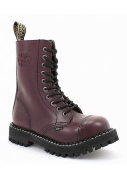 Высокие ботинки Steel бордовые 10 дырок 105/106/O/F. BUR