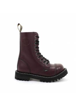 Високі черевики Steel бордові на 10 дірок