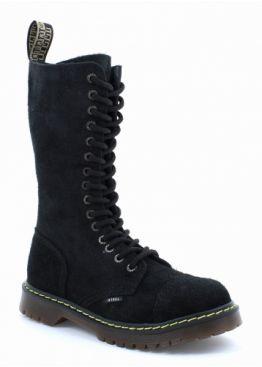Високі черевики Steel чорні замшеві на 15 дірок 135/AL/W-10