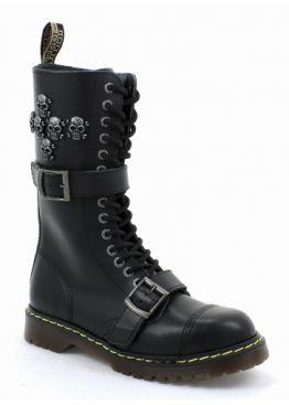 Високі черевики Steel чорні на 15 дірок 135/AL/Z/2P/6SKUL