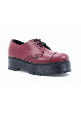 Низькі черевики Steel червоні на 3 дірки 101/ALS3-F.RED