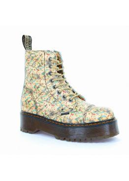 Середні черевики Steel з квітковим принтом на 8 дірок 113/ALS-DUR1/D-187
