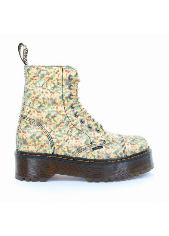 Середні черевики Steel з квітковим принтом на 8 дірок 113/ALS-DUR1/D-187 замовити online