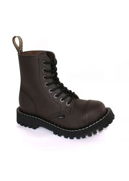 Середні черевики Steel коричневі на 8 дірок