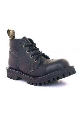 Низкие ботинки Steel черные 4 дырки 133-134/O/B