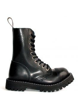 Высокие ботинки Steel черные 10 дырок 105-106/O/B