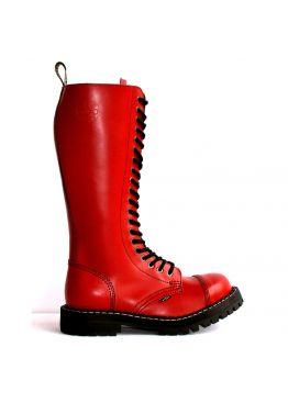 Високі черевики Steel червоні на 20 дірок