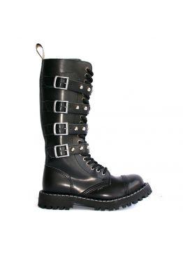 Высокие ботинки Steel черные с 4 ремнями  20 дырок 139/140/O/4P-BAL/Z/B