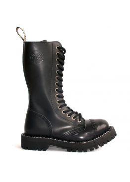 Высокие ботинки Steel черные 15 дырок 135/136/O/B