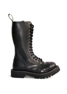 Високі черевики Steel чорні на 15 дірок