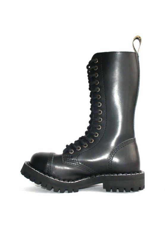 Высокие ботинки Steel черные 15 дырок 135/136/O/B заказать online