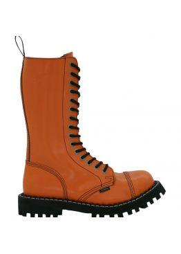 Высокие ботинки Steel оранжевые 15 дырок 135/136/O/F.ORG