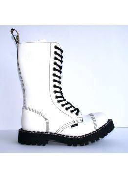 Высокие ботинки Steel белые 15 дырок 135/136/O/F.WHT