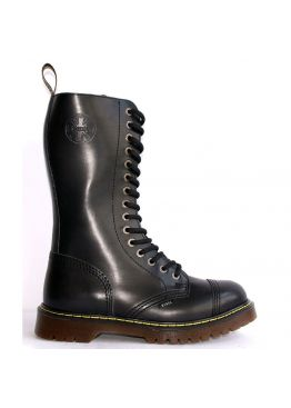 Высокие женские ботинки Steel черные 15 дырок 135/AL/B