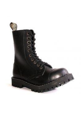 Высокие ботинки Steel черные 10 дырок 105-106/O/400 VEGAN