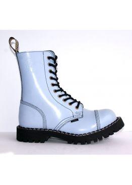 Високі черевики Steel блакитні на 10 дірок