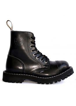 Средние ботинки Steel черные 8 дырок 113/114/O/B