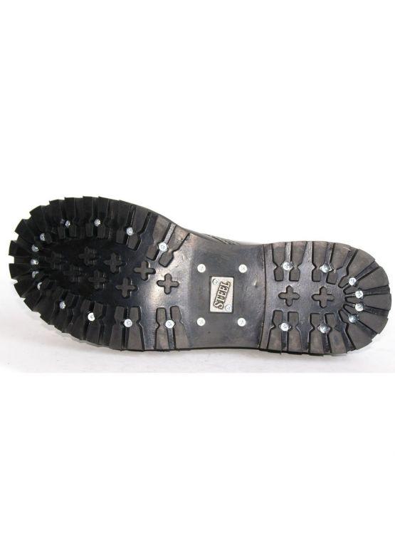 Середні черевики Steel сірі з ефектом затертості на 8 дірок замовити online