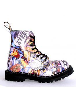 Середні черевики Steel з принтом на 8 дірок