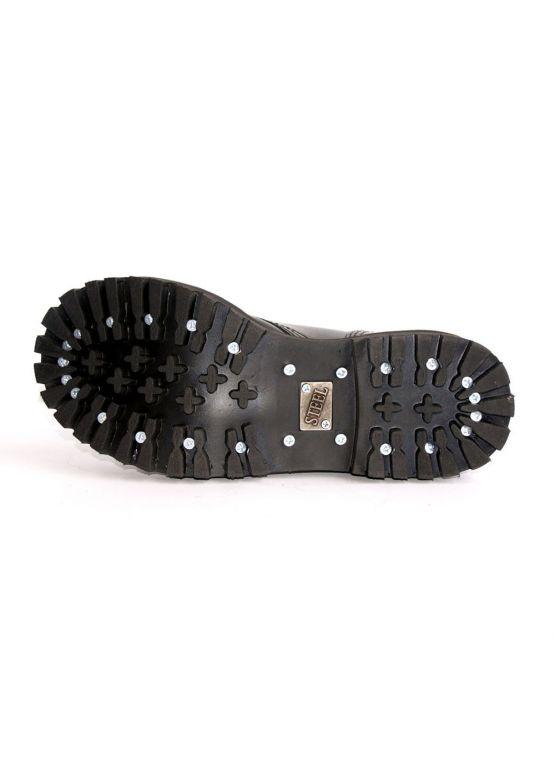 Середні черевики Steel сині з ефектом затертості на 8 дірок замовити online