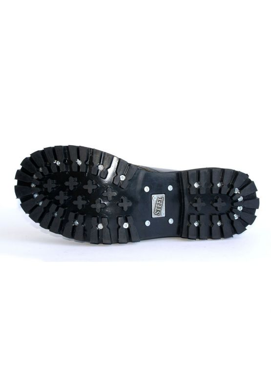 Середні черевики Steel чорно-жовті з ефектом затертості на 8 дірок замовити online