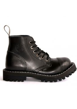 Средние ботинки Steel черные 6 дырок 127/128/O/B
