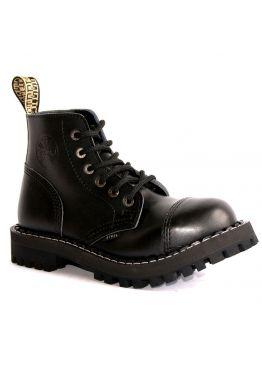 Середні черевики Steel чорні на 6 дірок
