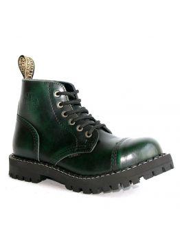Средние ботинки Steel зеленые с эффектом затертости 6 дырок 127/128/O/G