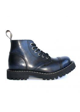 Середні черевики Steel сині з ефектом затертості на 6 дірок