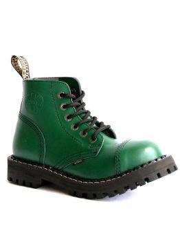 Средние ботинки Steel зеленые 6 дырок 127/128/O/F.GRE