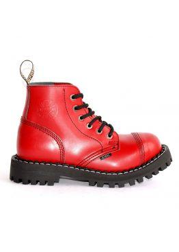 Средние ботинки Steel красные 6 дырок 127/128/O/F.RED