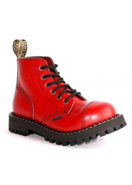 Середні черевики Steel червоні на 6 дірок