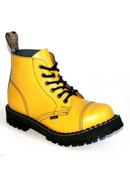 Середні черевики Steel жовті на 6 дірок