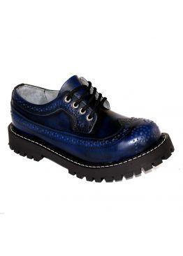 Низкие ботинки Steel синие 4 дырки 112/O/BLU/B