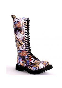 Високі черевики Steel з принтом на 20 дірок