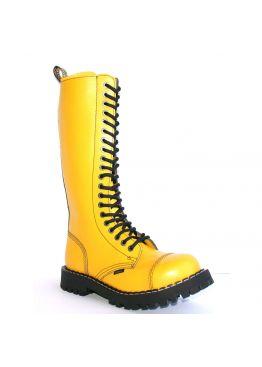Високі черевики Steel жовті на 20 дірок