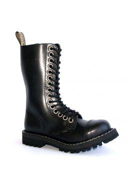 Высокие ботинки Steel черные 15 дырок с большими люверсами 135/136/O/BIG-EYE/Z/B