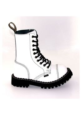 Высокие ботинки Steel белые 10 дырок 105/106/O/F-WHITE