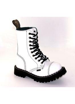 Високі черевики Steel білі на 10 дірок