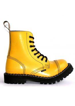 Середні черевики Steel жовті на 8 дірок