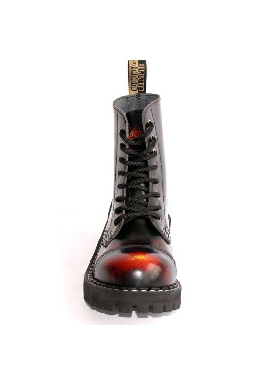 Середні черевики Steel бордово-чорні з ефектом затертості на 8 дірок замовити online
