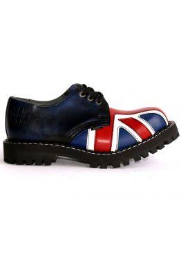 Низькі напівчеревики Steel сині з британським прапором на 3 дірки