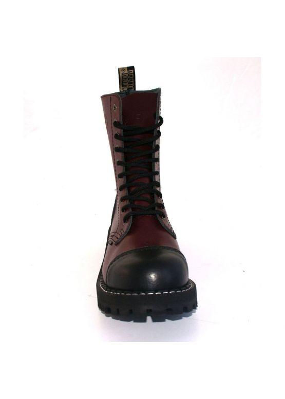 Высокие ботинки Steel черно-бордовые 10 дырок 105/106/O/B-F.BUR заказать online